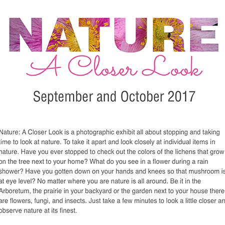 Nature: A Closer Look exhibition and promotional branding