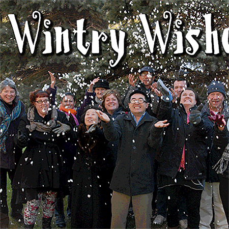 Wintery wishes holiday email blast