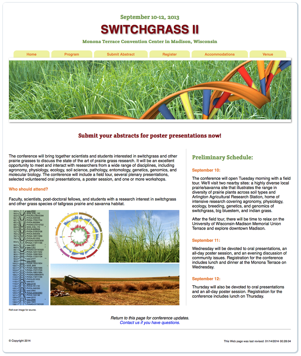 Switchgrass II Conference website